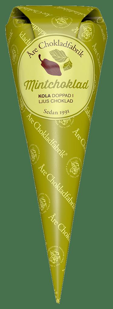 Mintchokladkola ljus