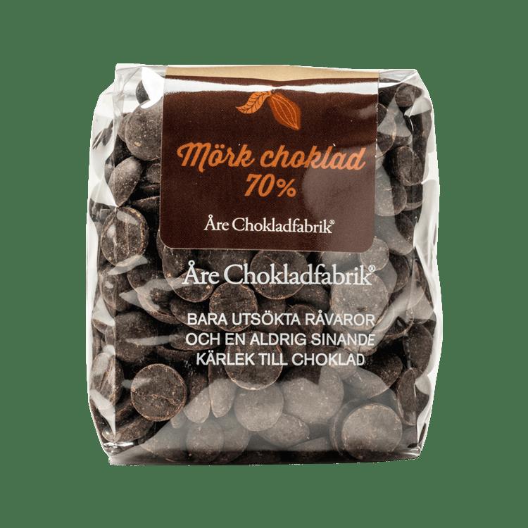 Chokladpluppar mörk 70% liten