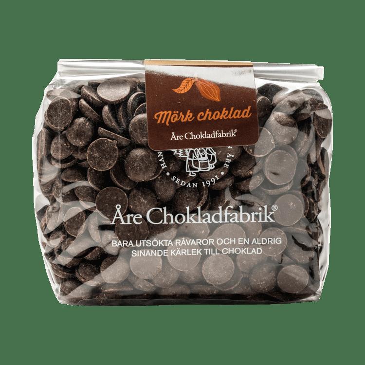 Chokladpluppar mörk stor