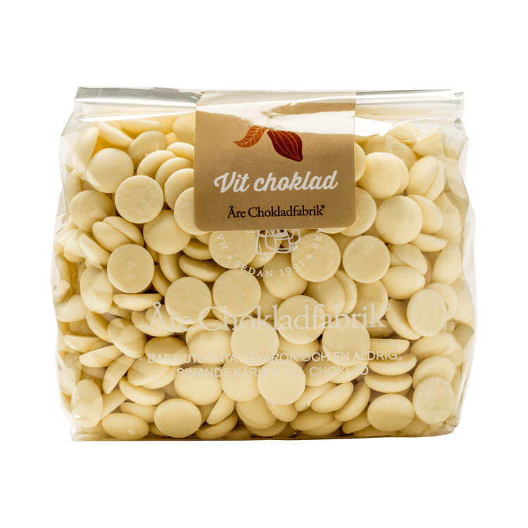Chokladpluppar vit stor