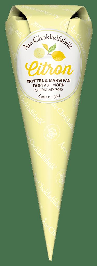 Citron/marsipantryffel
